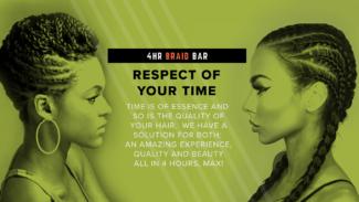 4HR Braid Bar Slogan