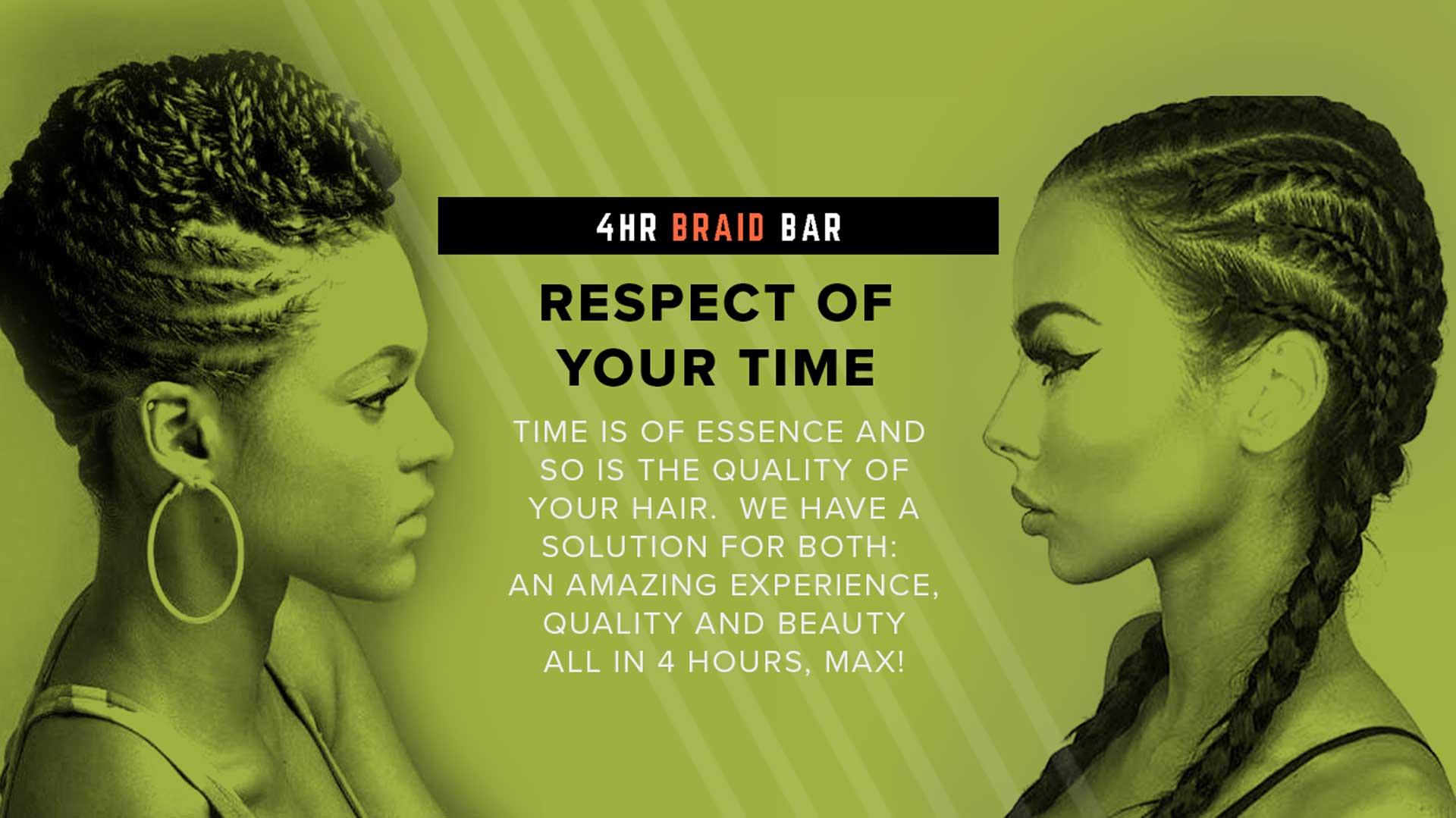 4HR Braid Bar Banner